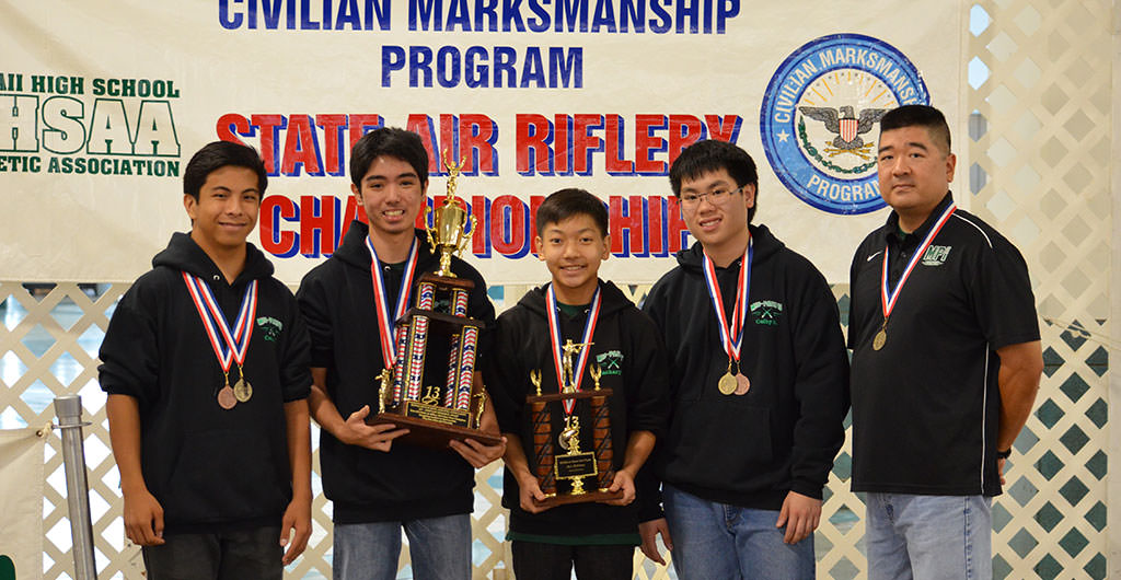 Boys Sporter Air Riflery 2015-2016 at Mid-Pacific