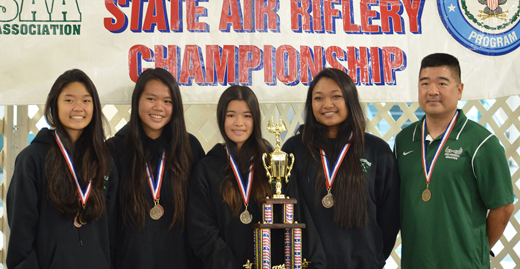 Girls Sporter Air Riflery at Mid-Pacific