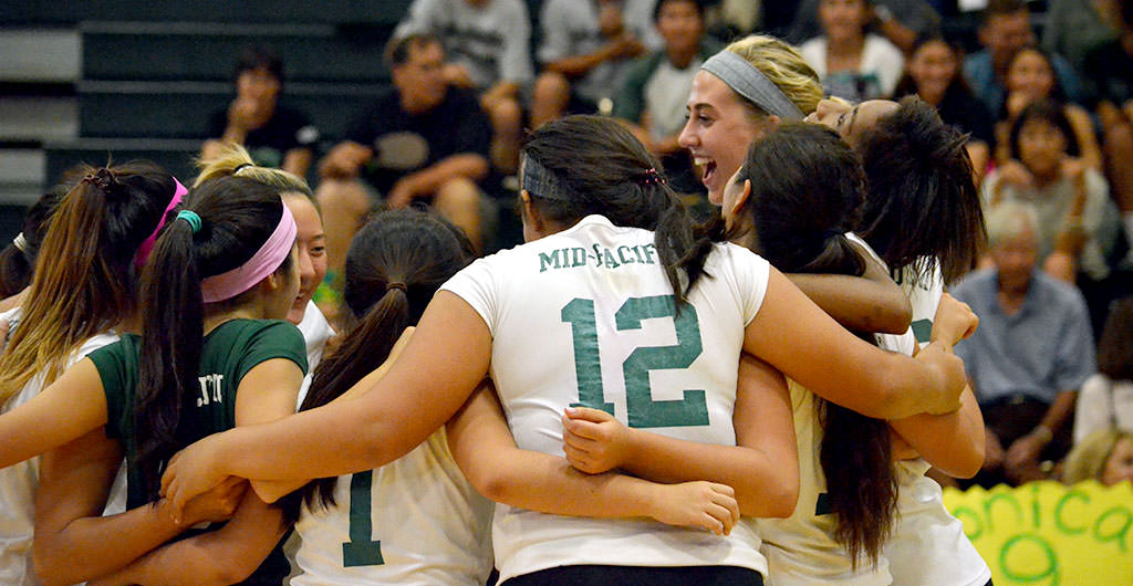 Girls Volleyball 2014-2015 at Mid-Pacific