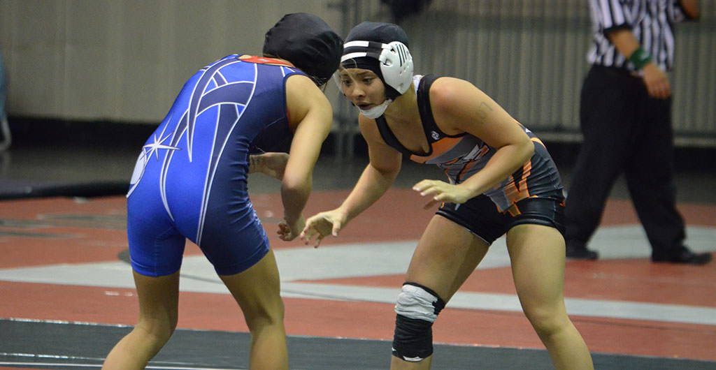 Girls Wrestling 2015-2016 at Mid-Pacific
