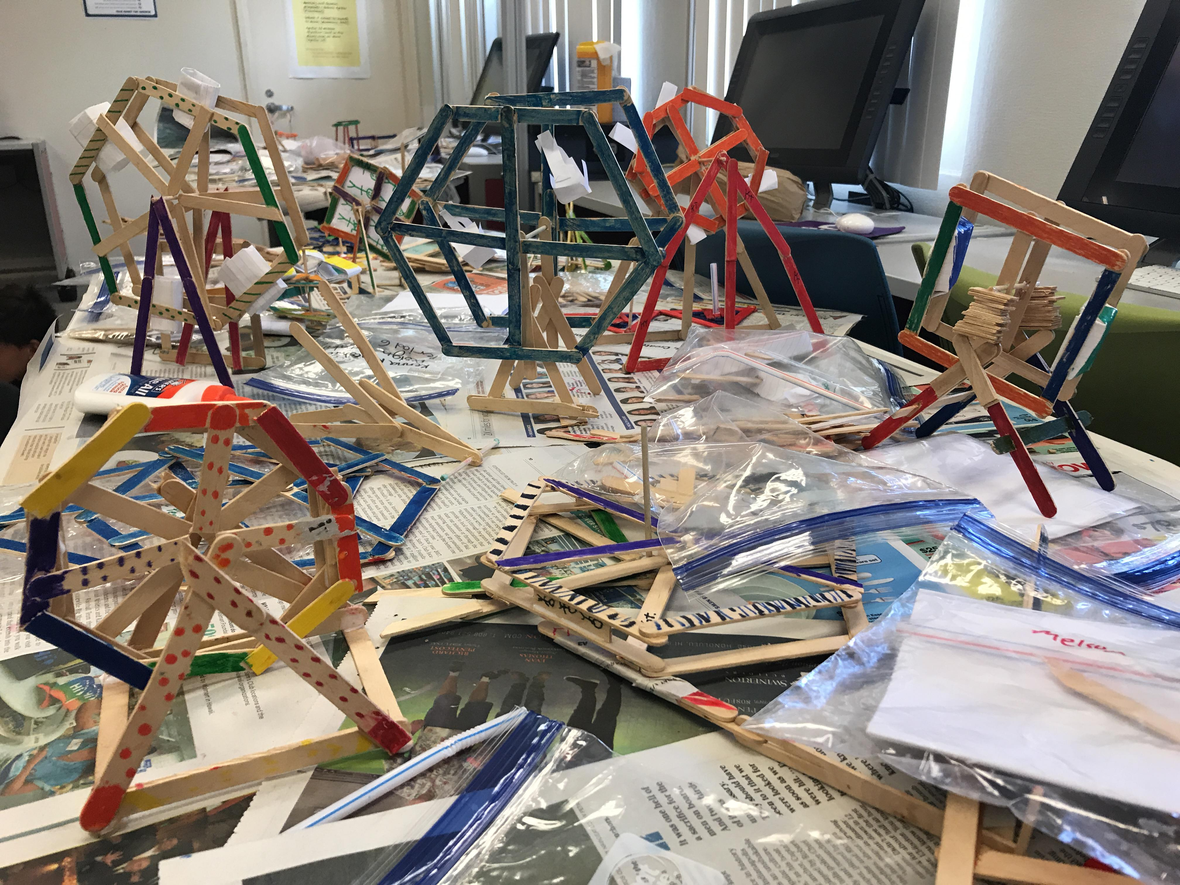 Low Tech Prototyping Ferris Wheels Mid Pacific Institute