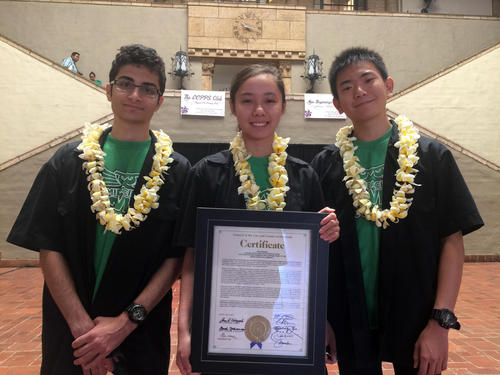 Robotics Team Honored by City Council