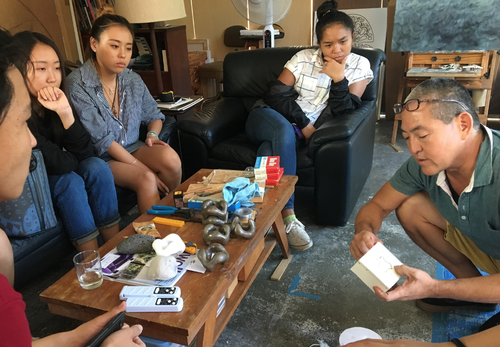 MPSA Visual Arts Students Visit John Koga's Studio